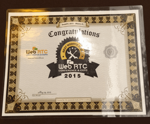 Frozen Mountain Wins Best WebRTC Tool Award!