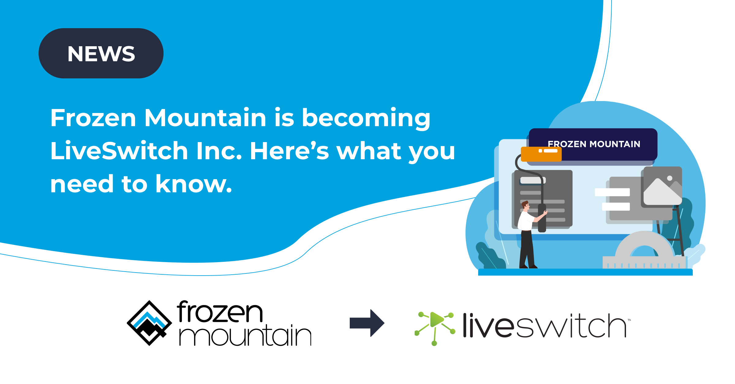 Frozen Mountain is becoming LiveSwitch Inc. Here's what you need to know.